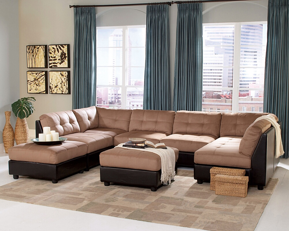 Image of: fabric tufted ottoman coffee table
