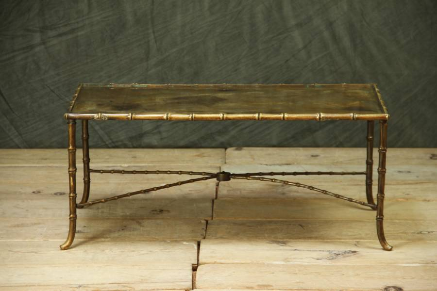 Image of: faux bamboo coffee table
