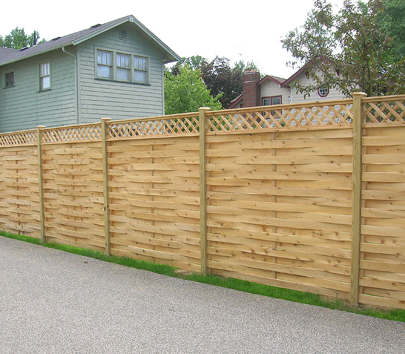 Image of: fence designs wood