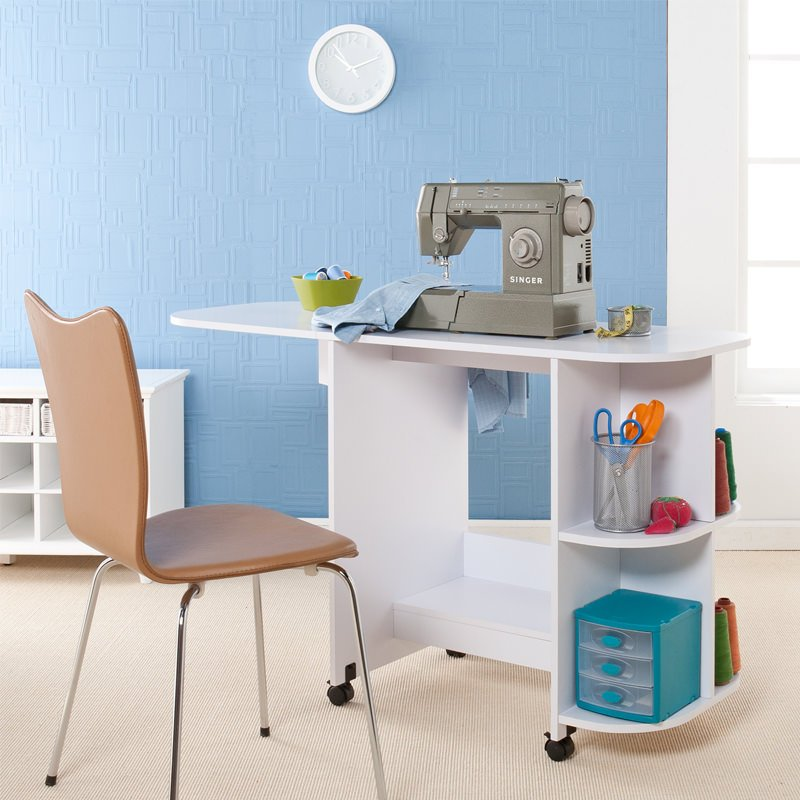 Image of: folding sewing table portable