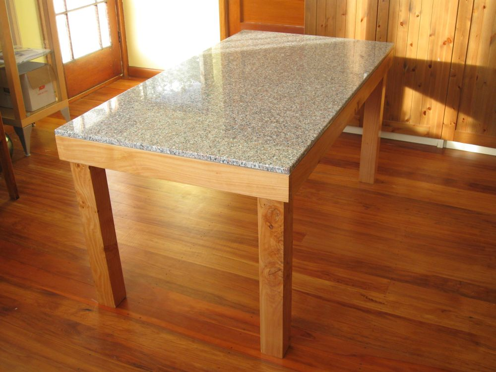 Image of: granite dining room tables