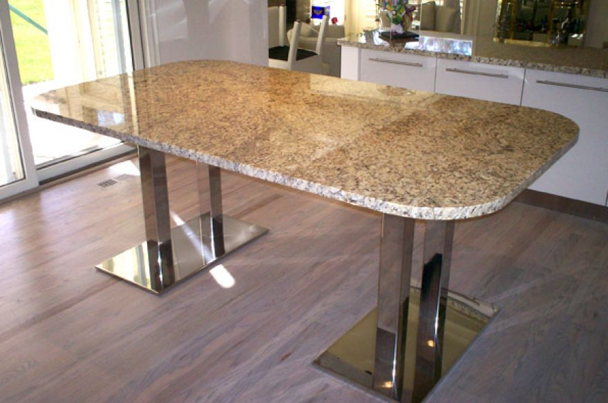 Image of: granite dining table set