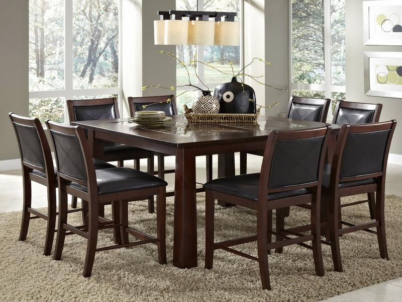 Image of: granite top dining table