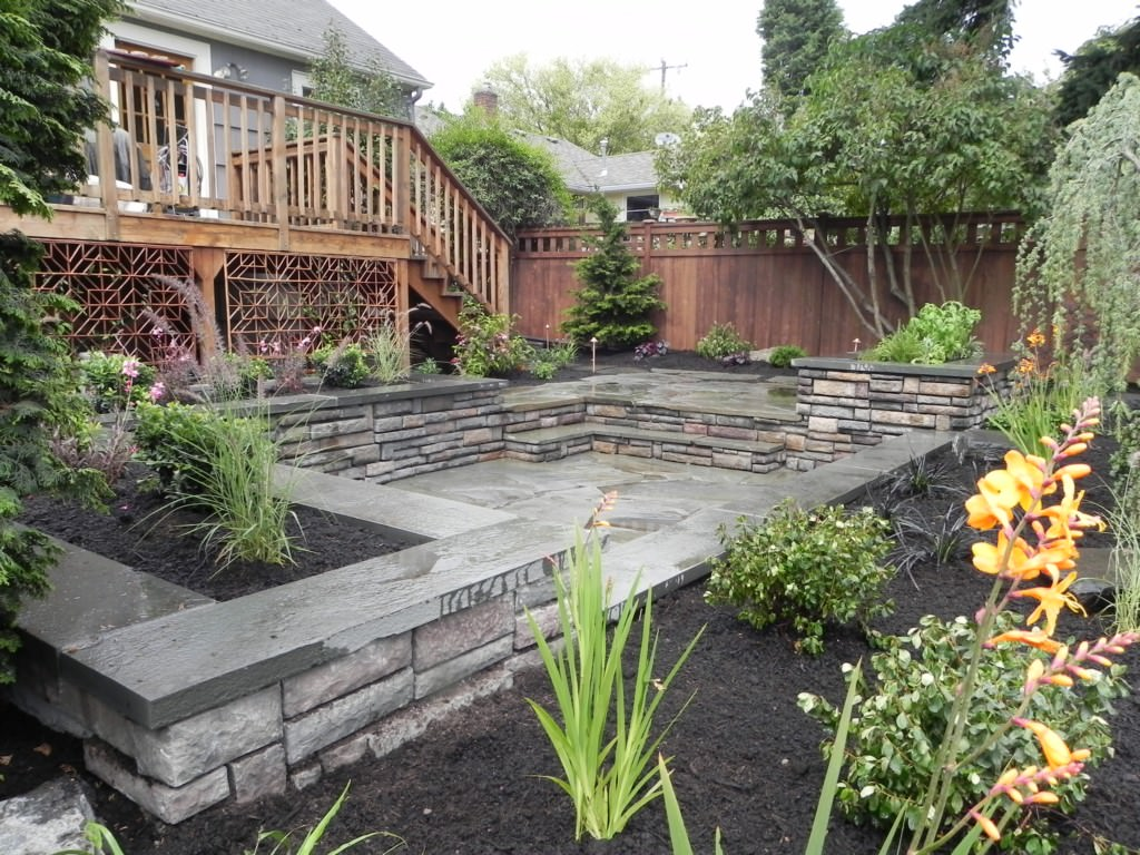 Image of: hardscape designs for backyards