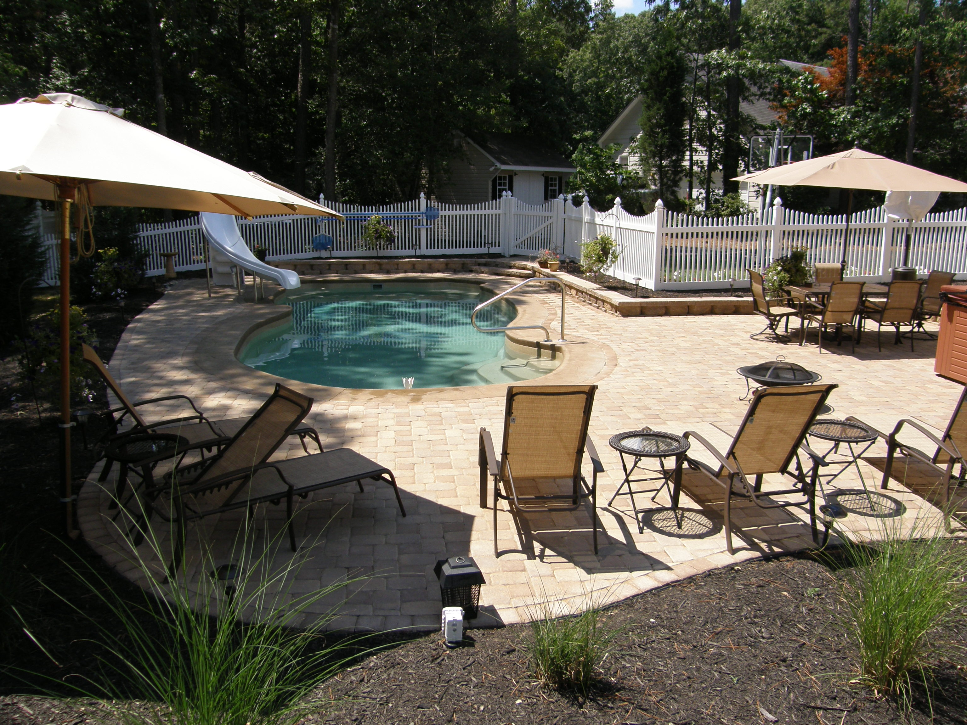 Image of: inground pool and patio designs