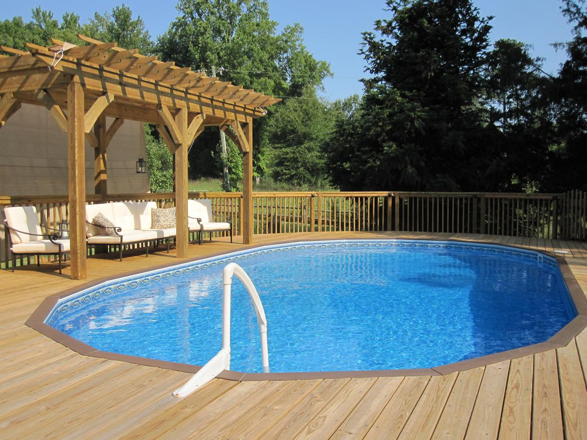 Image of: inground pool deck designs