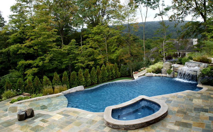 Image of: inground pool design ideas
