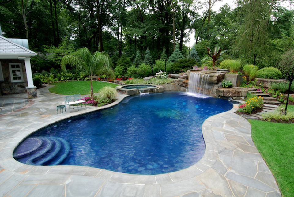 Image of: inground pool design