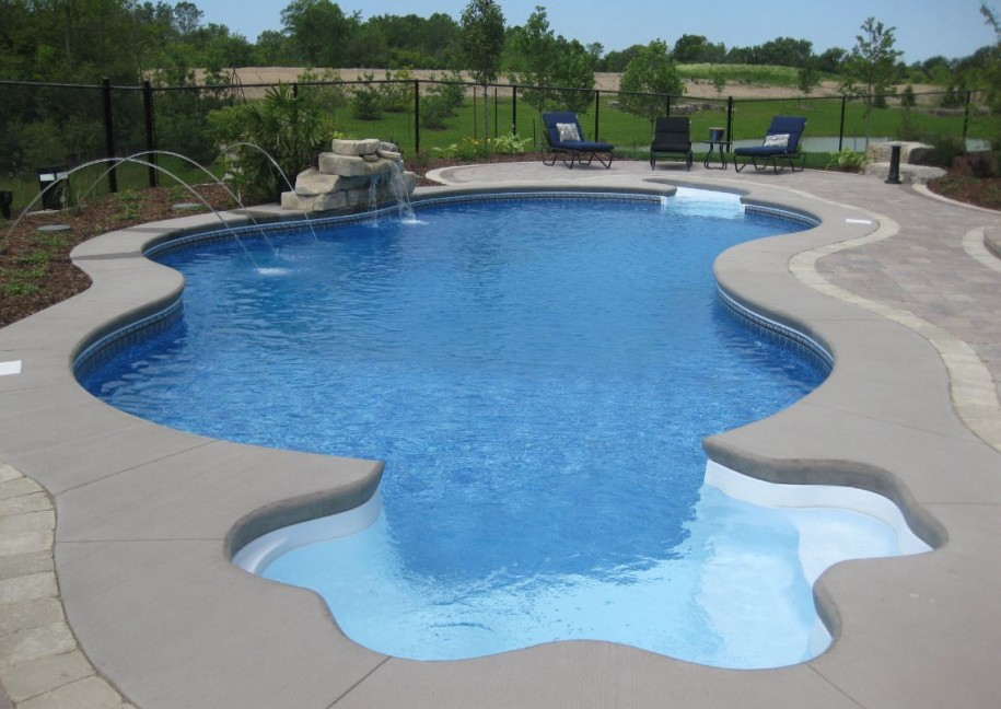 Image of: inground swimming pool designs ideas