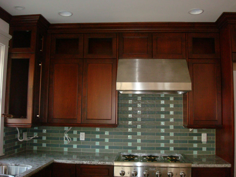 Image of: kitchen backsplash tile designs glass