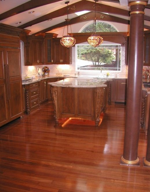 Image of: kitchen flooring ideas bamboo