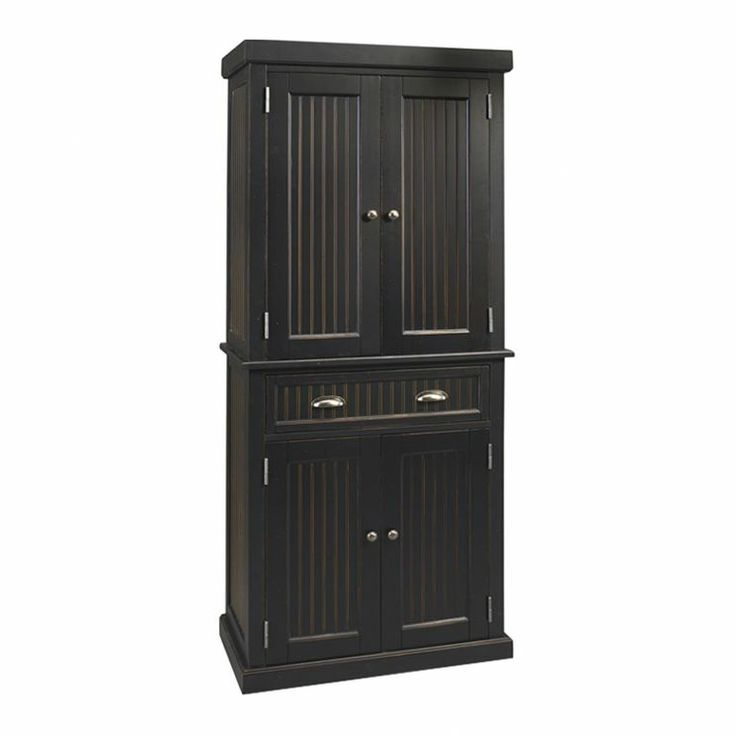 Image of: kitchen pantry cabinet black