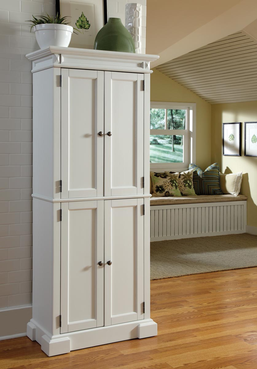 Image of: kitchen pantry cabinet white