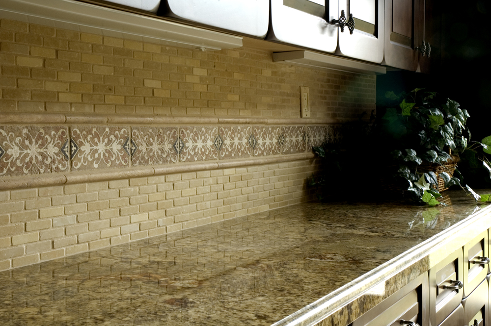 Image of: kitchen tile designs for backsplash