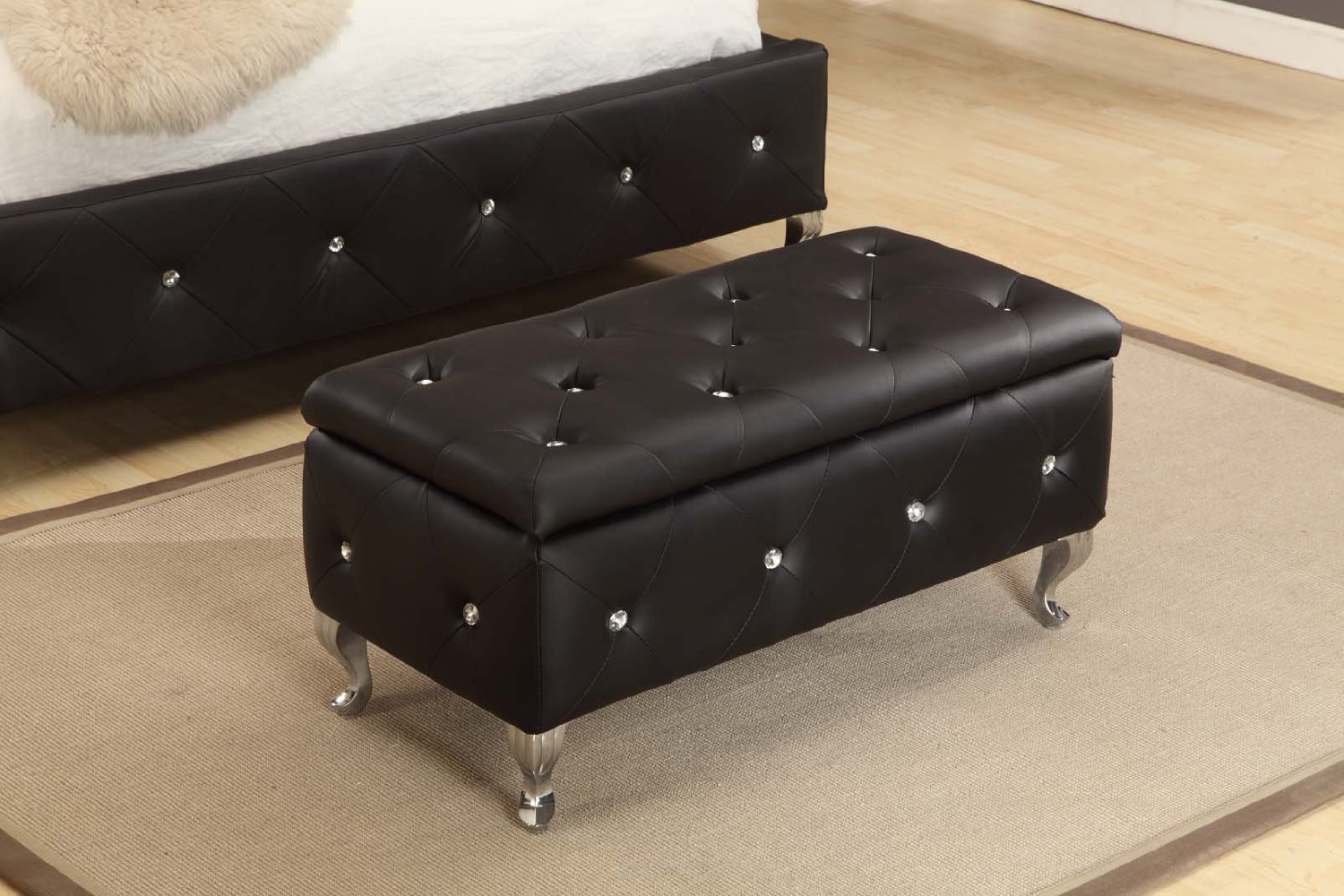 Image of: large tufted ottoman coffee table