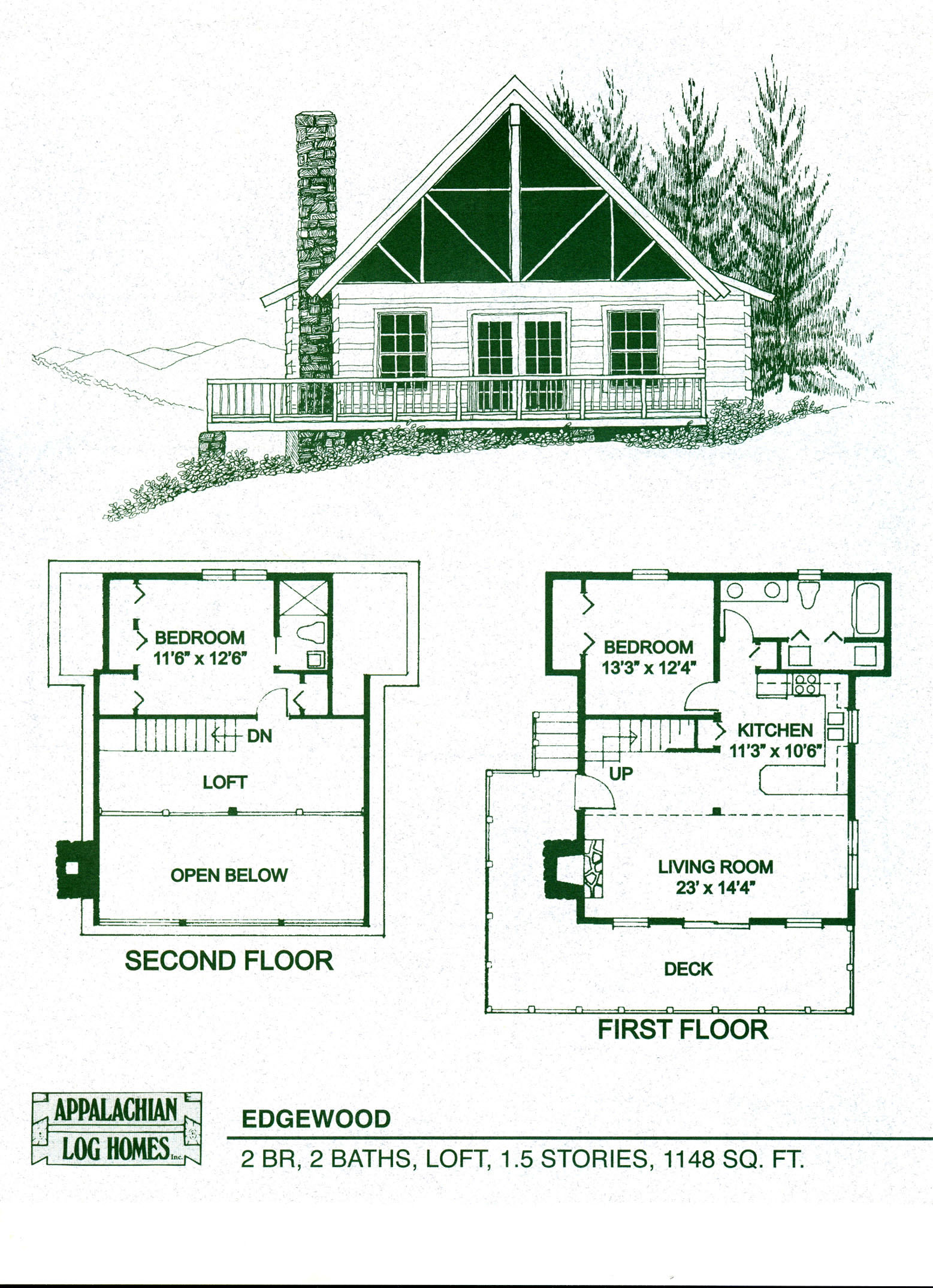 Image of: log cabin designs and floor plans