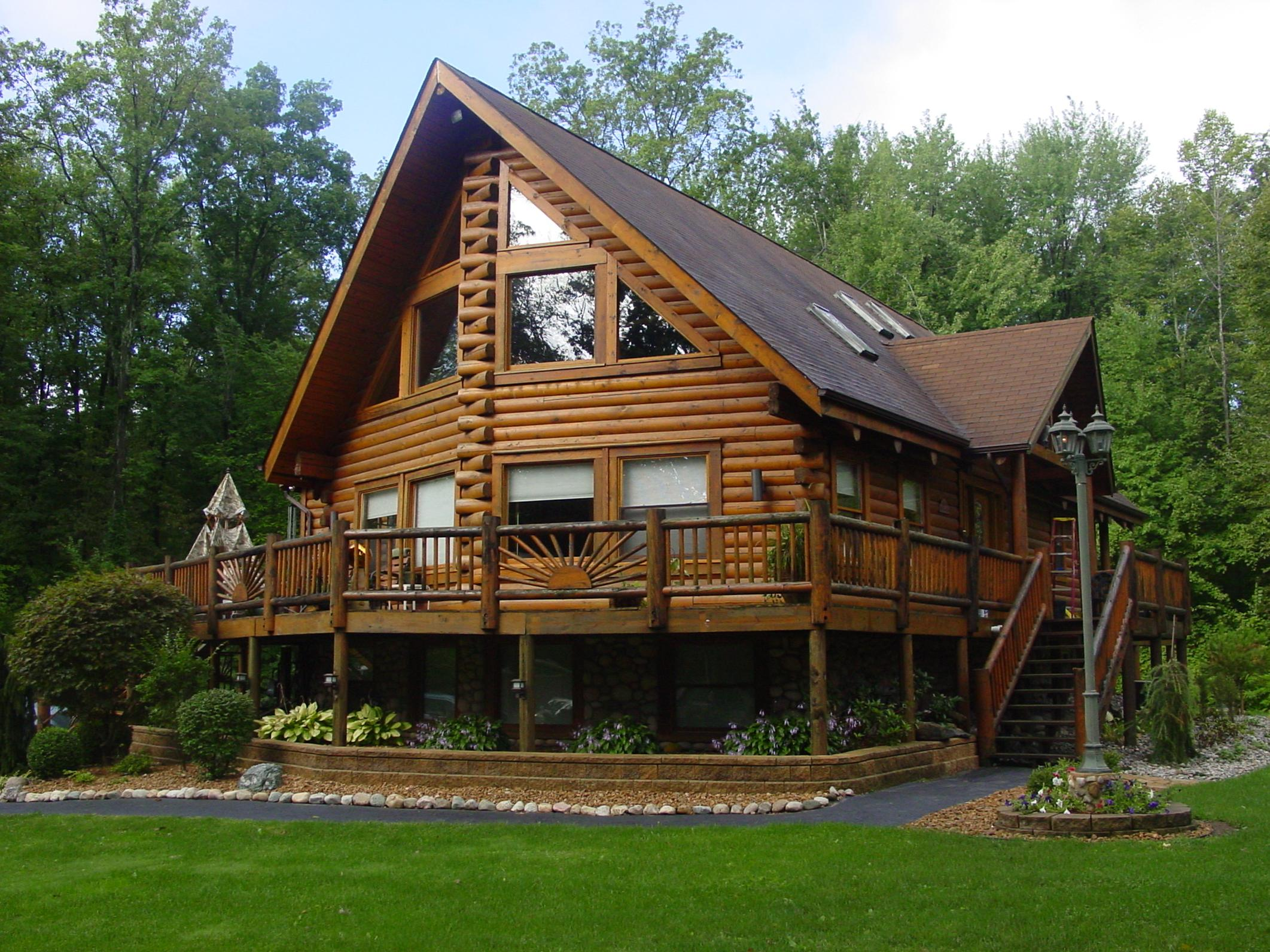 log cabin house designs