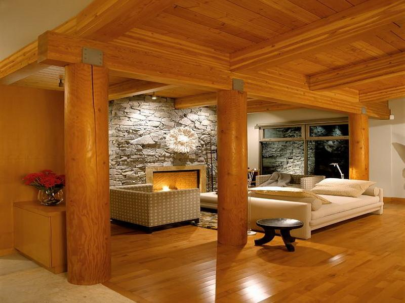 Image of: log cabin interior design ideas