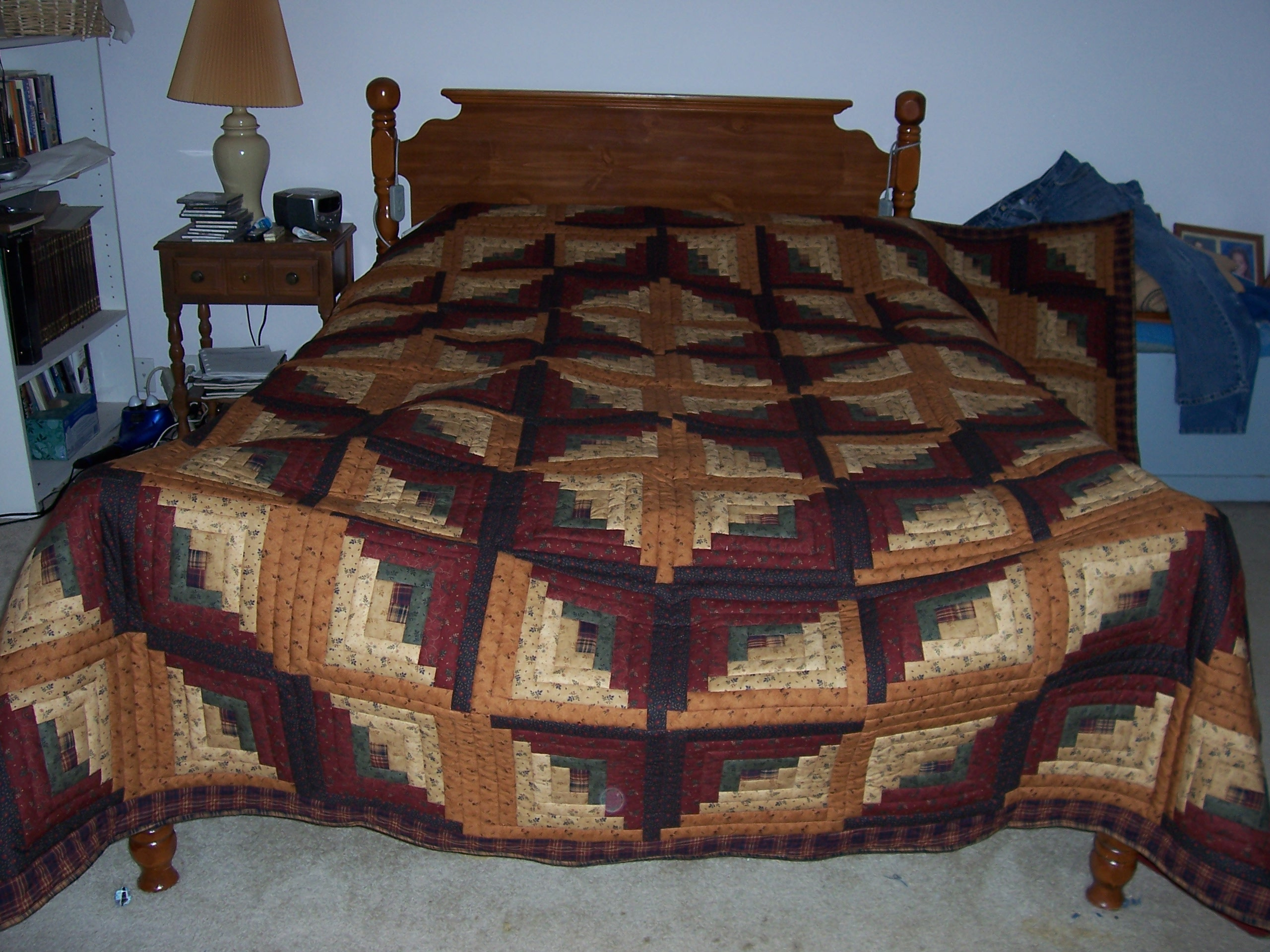 Image of: log cabin quilt designs