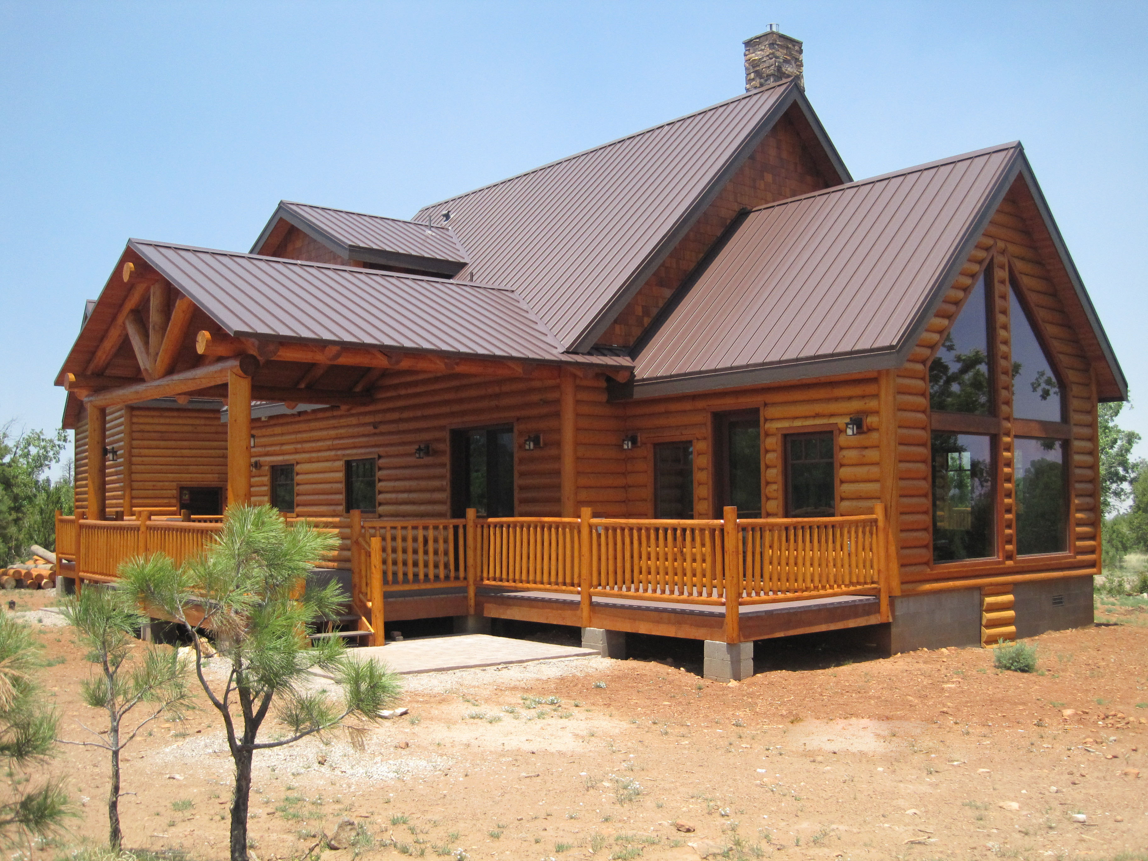 Image of: log cabins designs