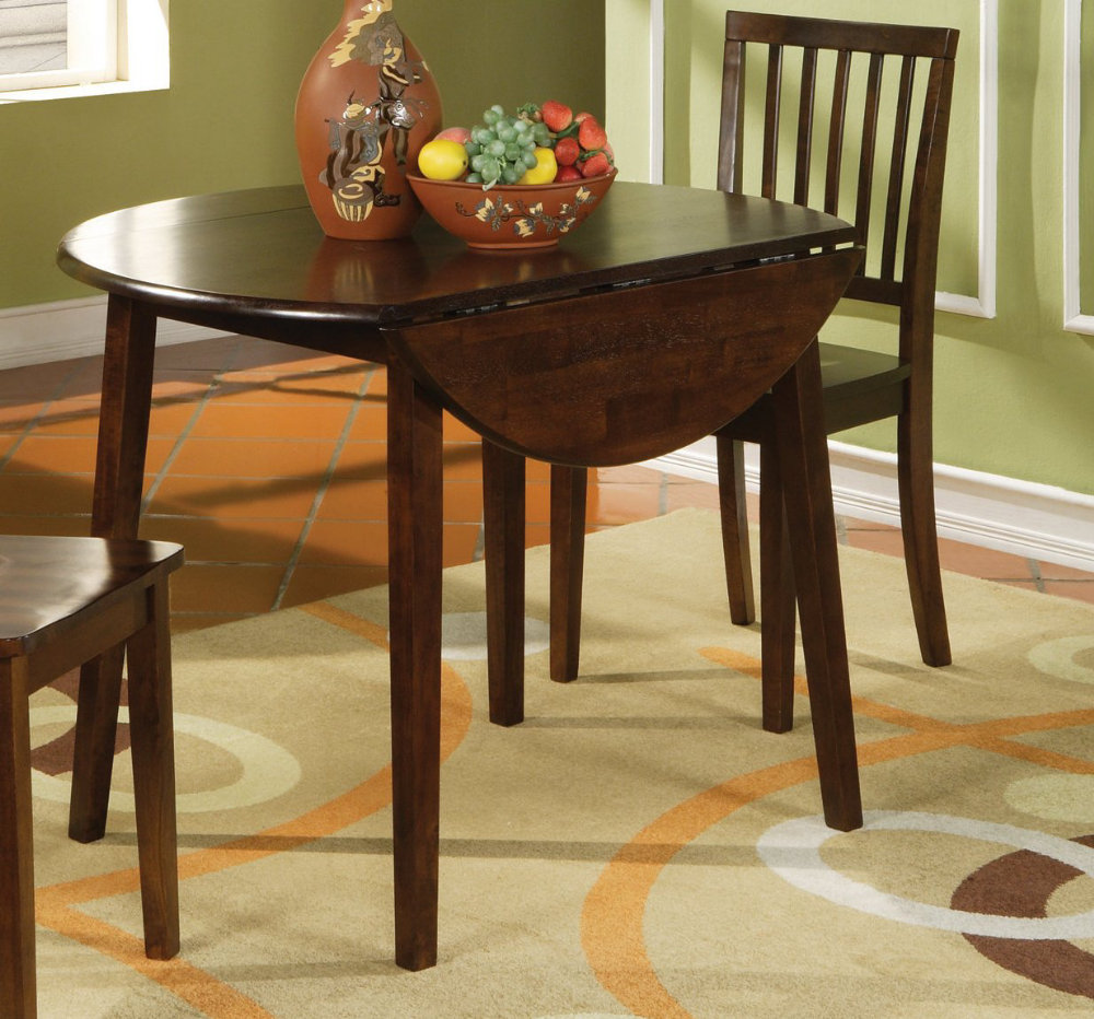 Image of: round drop leaf dining table