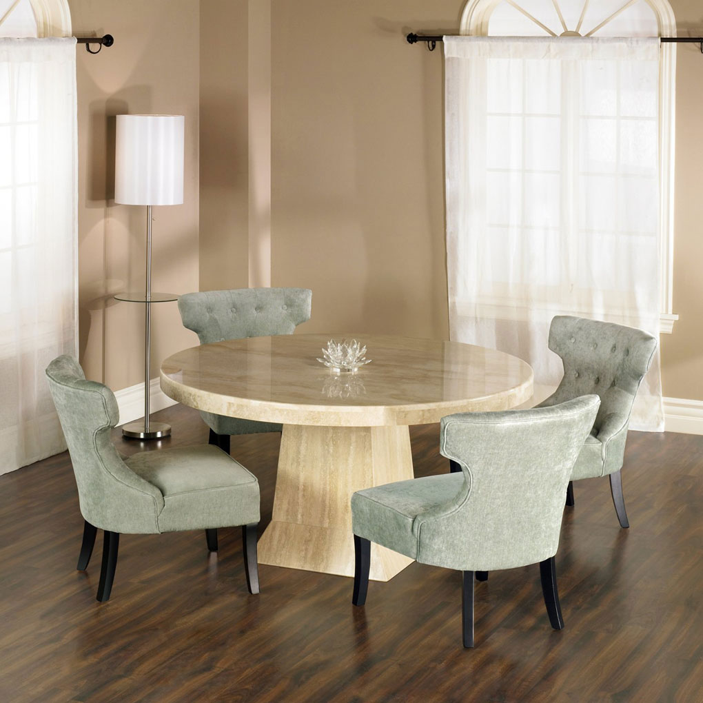 Image of: round granite dining table
