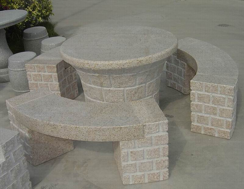 Image of: round granite top dining table