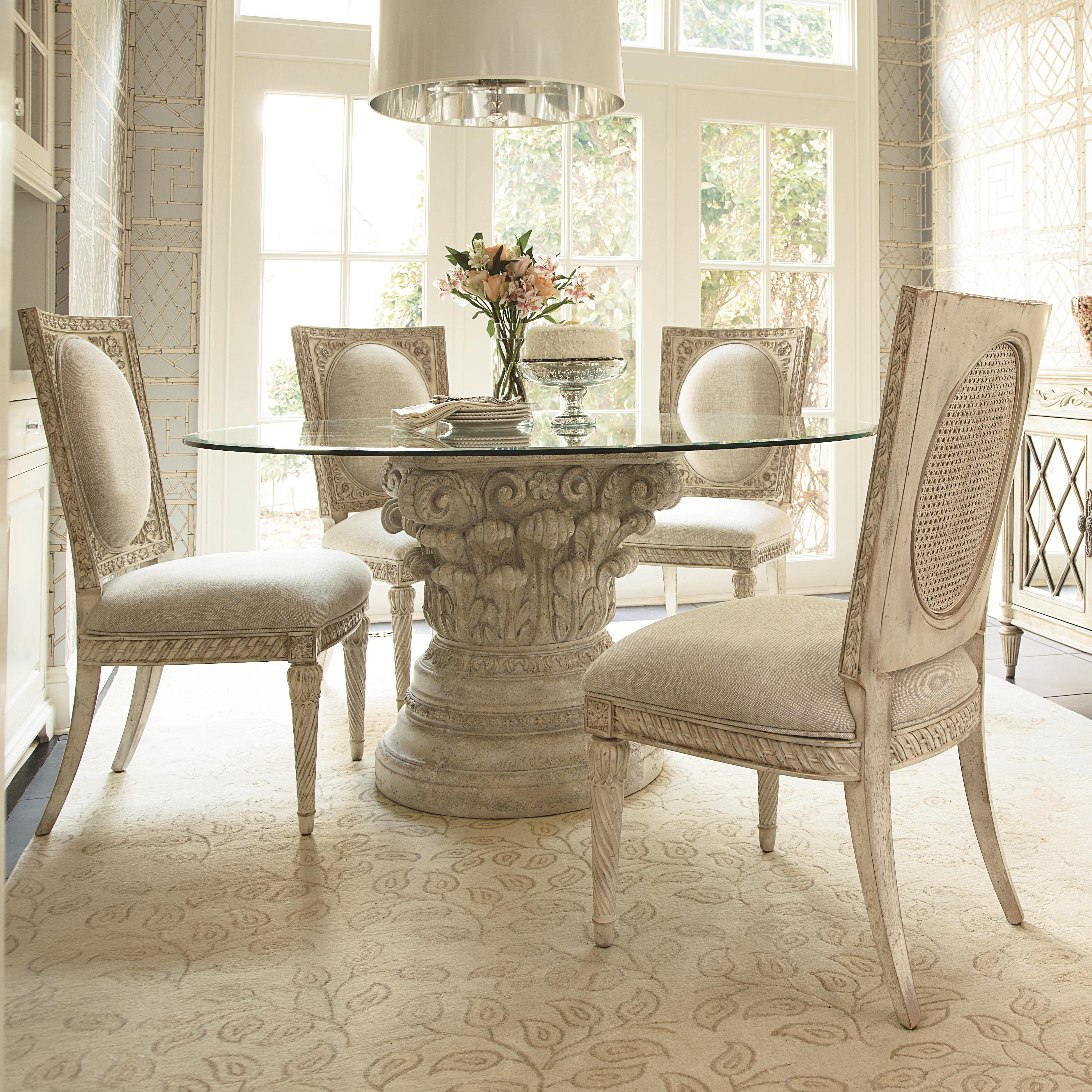 Image of: round pedestal accent table
