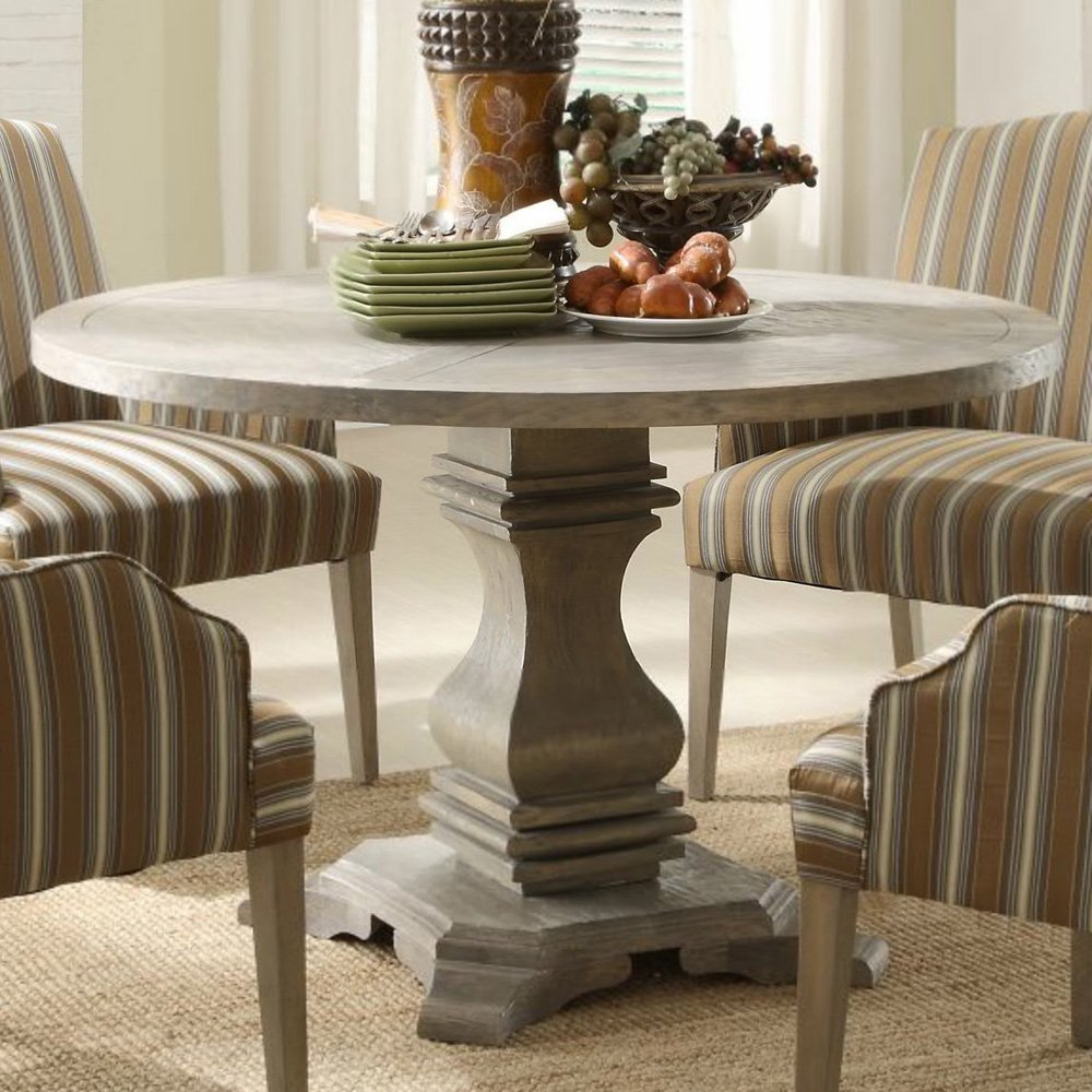 Image of: round pedestal coffee table