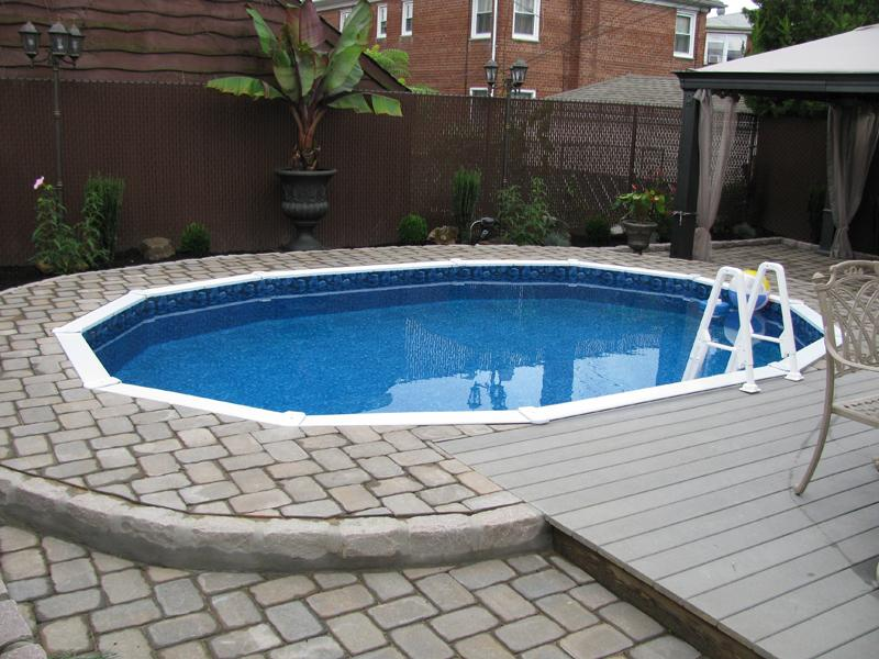 Image of: semi inground pool designs