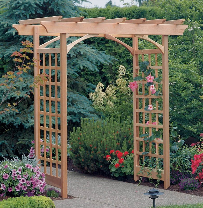 Image of: trellis arbor design