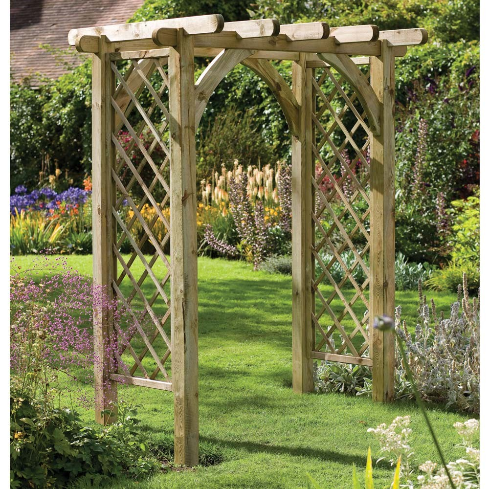 Image of: trellis arch design