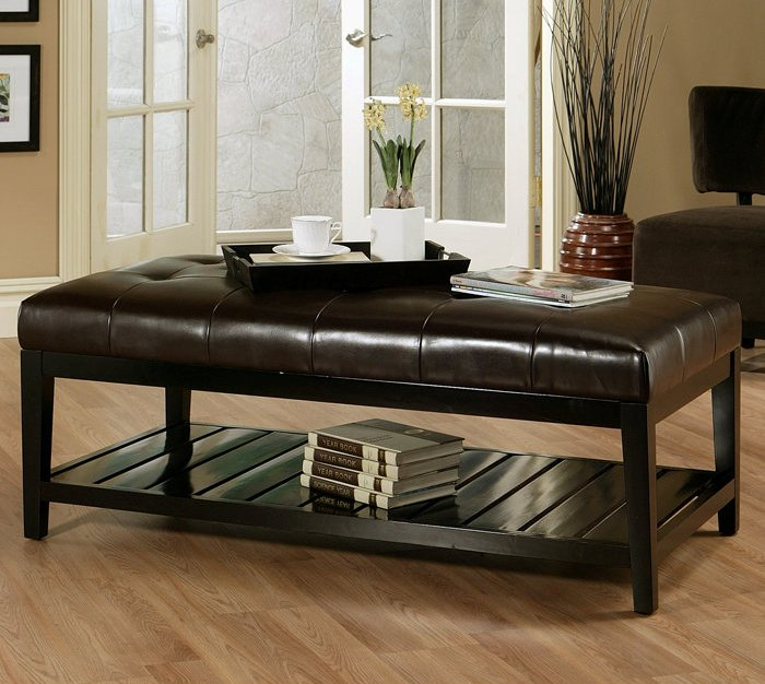Image of: tufted ottoman coffee table