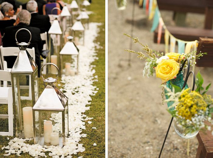Image of: wedding ceremony aisle decorations diy