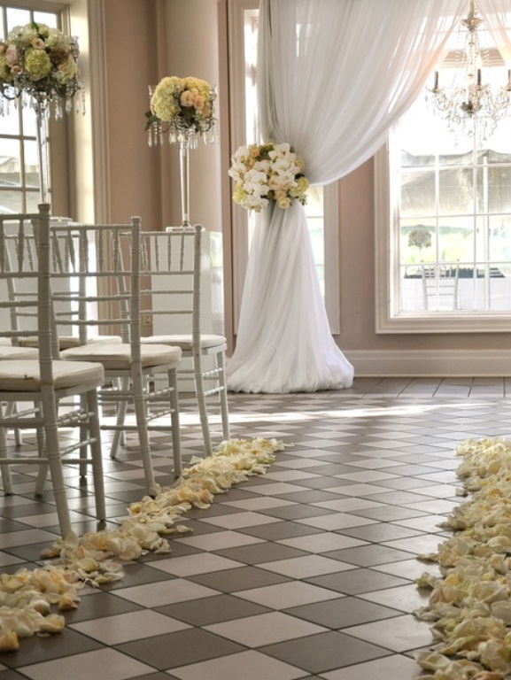 Image of: wedding ceremony aisle decorations ideas