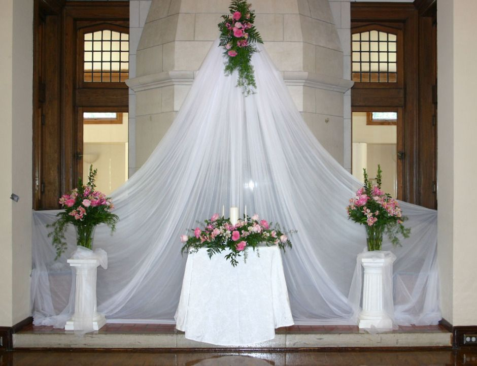 Image of: wedding ceremony altar decorations ideas