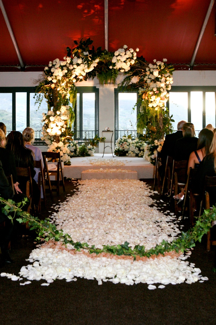 Image of: wedding ceremony decorations arches