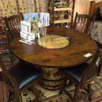 whiskey barrel table base