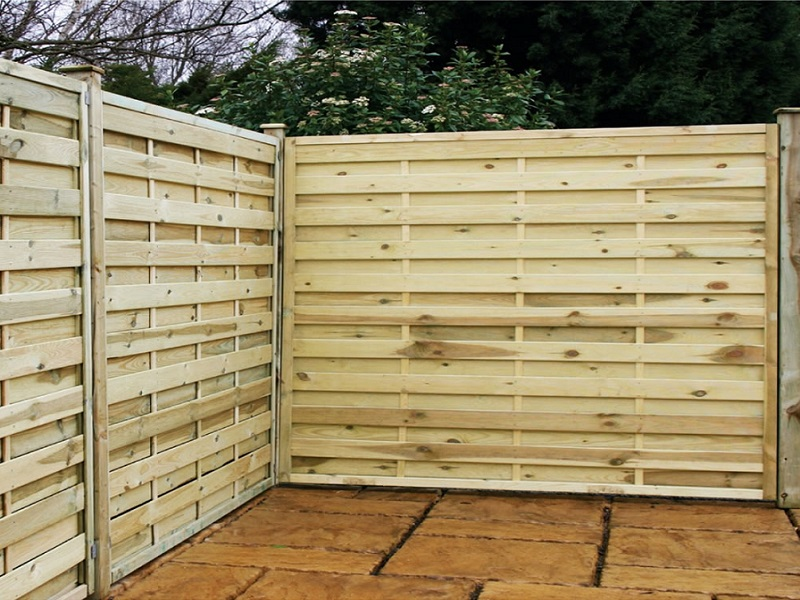 Image of: wood fence designs diy