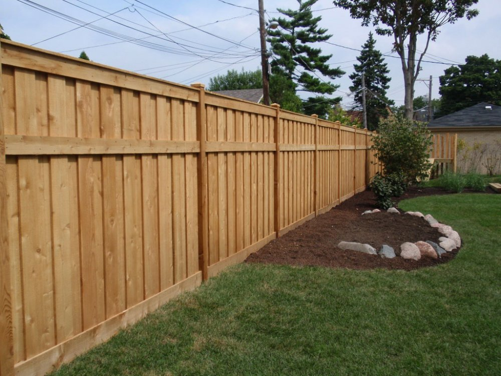 Image of: wood fence designs photos