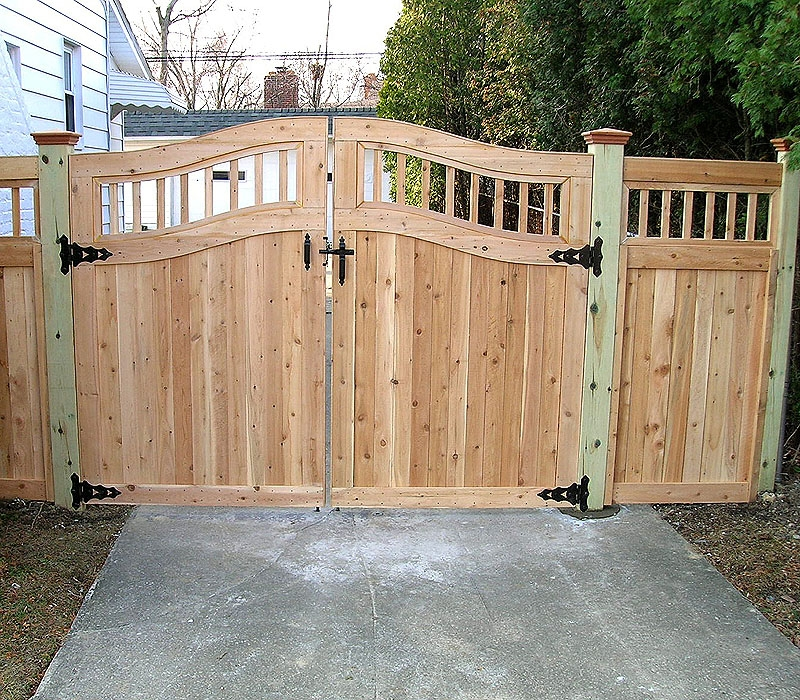 Image of: wood fence gate designs