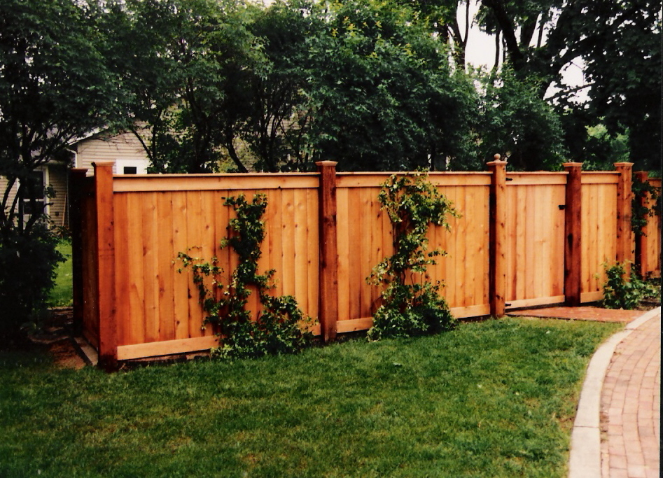 Image of: wood fencing designs