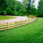 wood rail fence designs