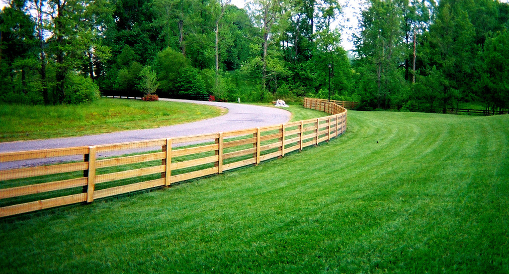 Image of: wood rail fence designs
