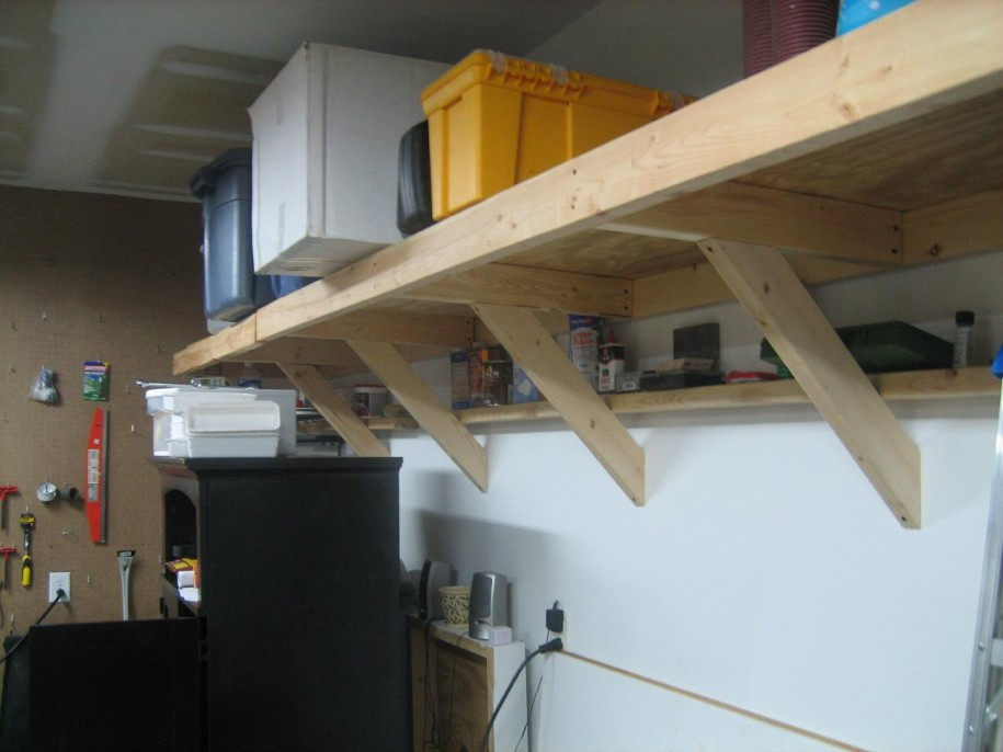 Image of: above garage storage ideas