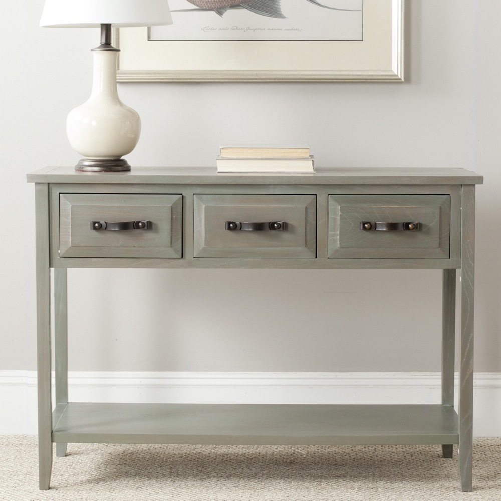 Image of: aiden antique grey console table