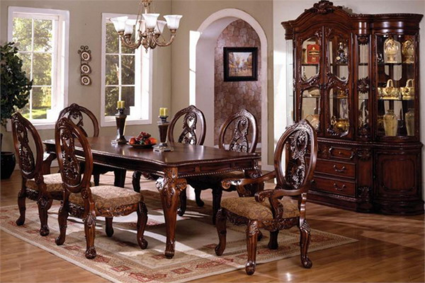 Image of: amish bedford dining table