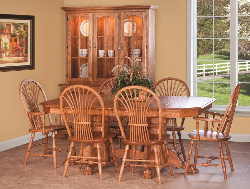 Image of: amish made dining table and chairs