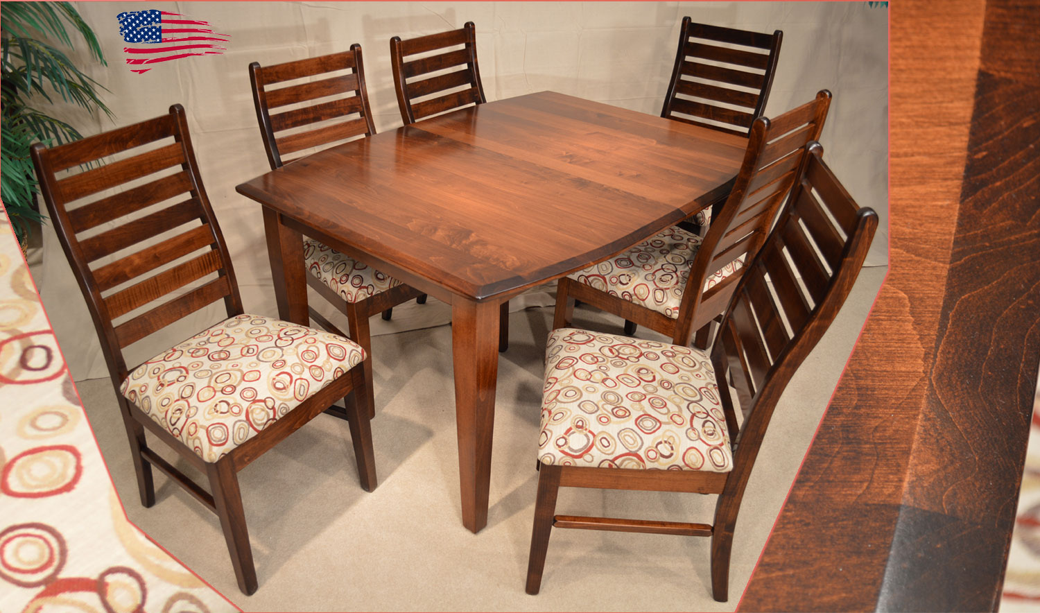 Image of: amish oak dining table and chairs
