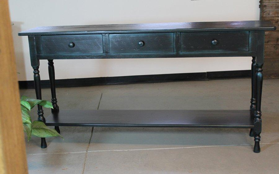 Image of: antique console table with storage